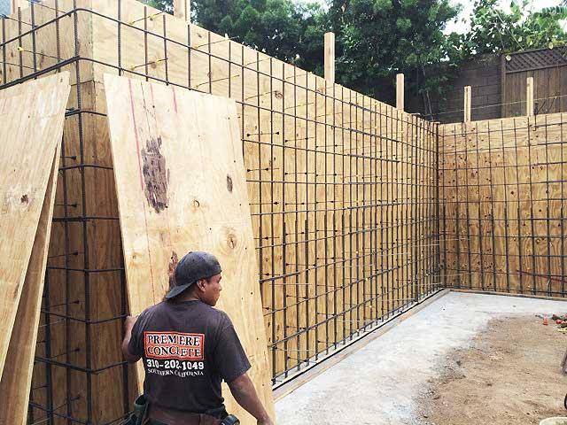 los angeles concrete walls premiere concrete rh premiereconcreteconstruction com concrete basement walls leaking concrete basement walls sweating