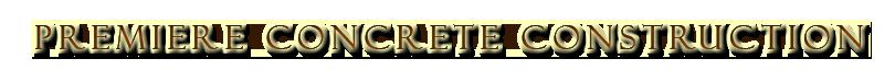 Premiere Concrete Construction logotype